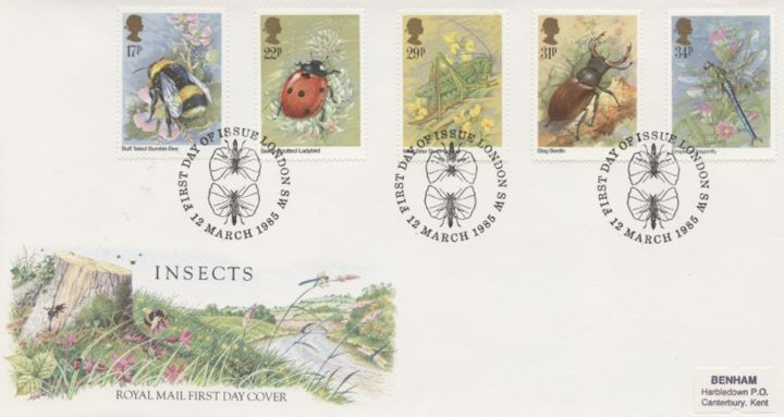 British Insects, Special Handstamps