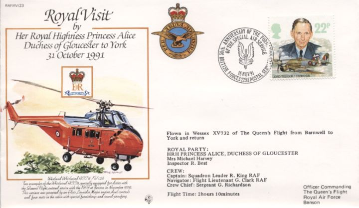 Royal Visit HRH Princess Alice, Westland Whirlwind
