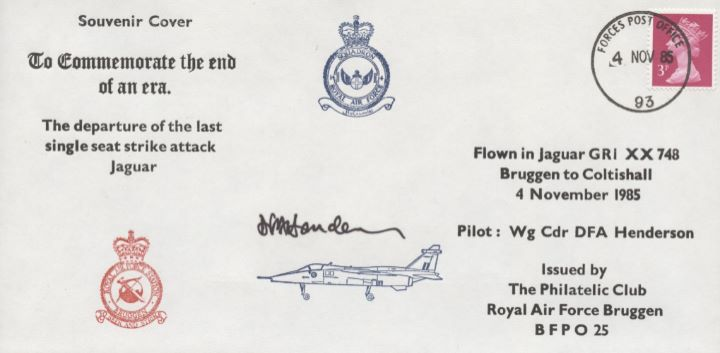Departure of the last single seat strike attack Jaguar, RAF Bruggen Crest