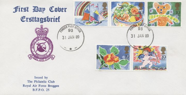 Greetings Stamps, RAF Bruggen Crest