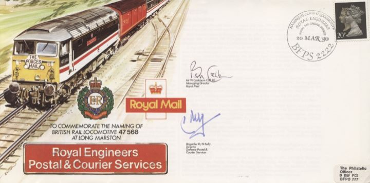 Royal Engineers Postal & Courier Service, British Rail Locomotive 47 568