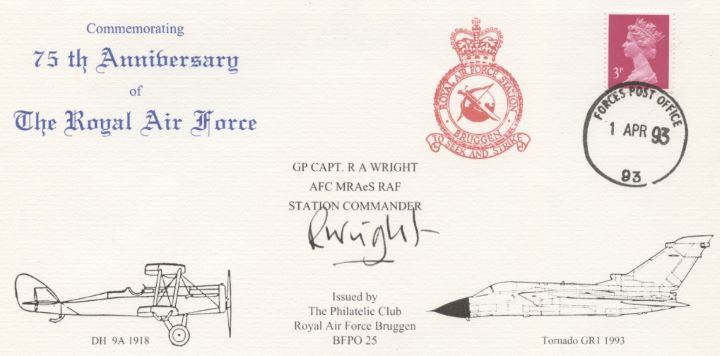 75th Anniversary of RAF, RAF Bruggen Crest & Aircraft