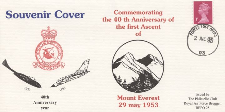 40th Anniversary First Ascent of Everest, RAF Bruggen Crest & Aircraft