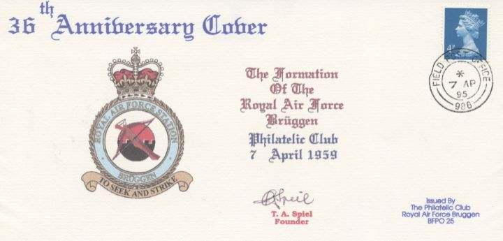 36th Anniversary, RAF Bruggen Philatelic Club