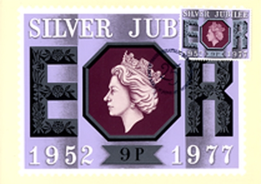 Silver Jubilee:  9p PHQ Card