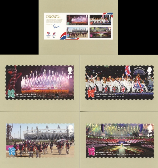 Memories of London 2012: Miniature Sheet PHQ Card