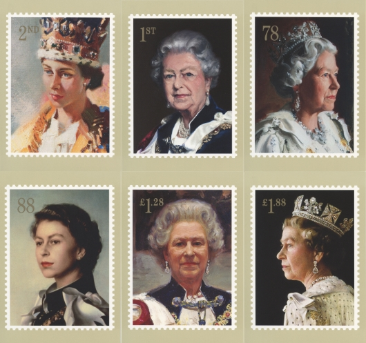 Her Majesty the Queen Royal Portraits PHQ Card