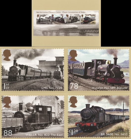 Classic Locomotives: Series No.4: Miniature Sheet PHQ Card