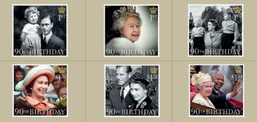 H M The Queen's 90th Birthday PHQ Card