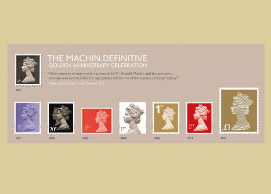 Machin Golden Anniversary: Miniature Sheet PHQ Card