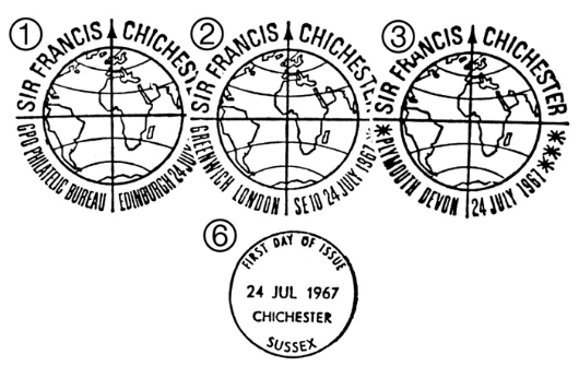 Sir Francis Chichester Postmarks