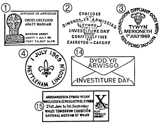 Prince of Wales Investiture Postmarks
