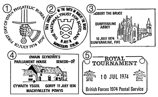 Great Britons Postmarks