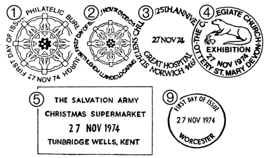 Christmas 1974 Postmarks