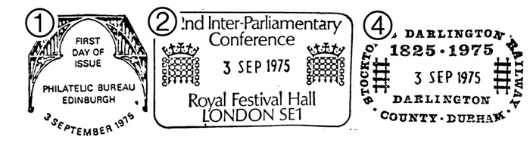 Parliament 1975: 12p Postmarks