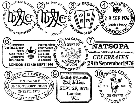 William Caxton Postmarks