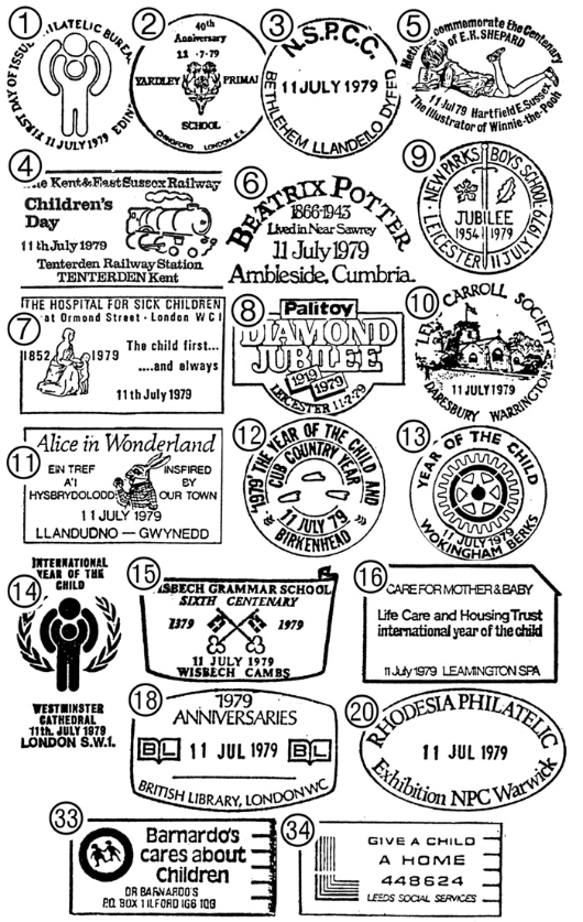Year of the Child Postmarks