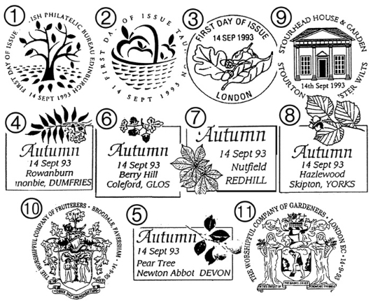 4 Seasons: Autumn Postmarks