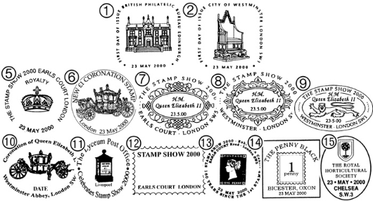 Queen's Stamps: Miniature Sheet Postmarks