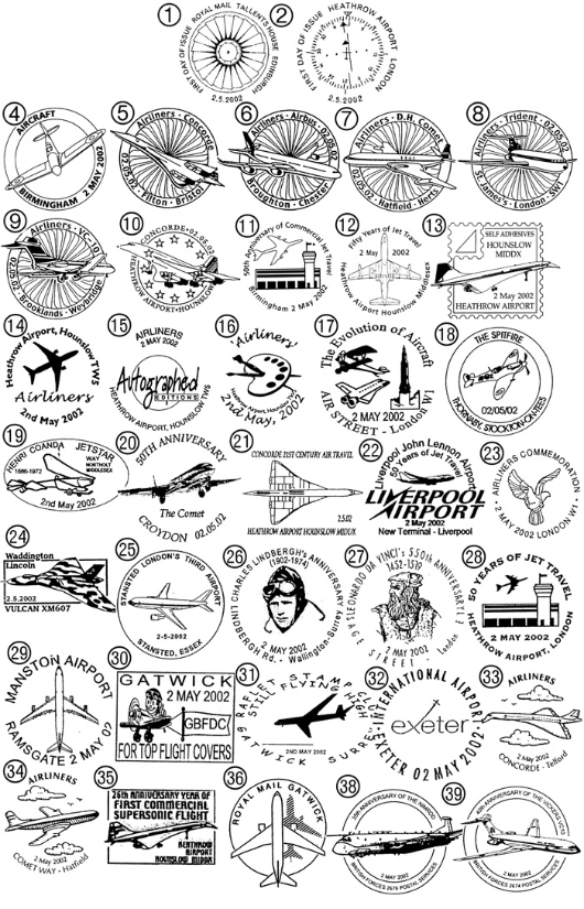 Airliners: Miniature Sheet Postmarks