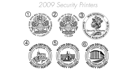 Machins (EP): Security Features: Set of 10 Postmarks
