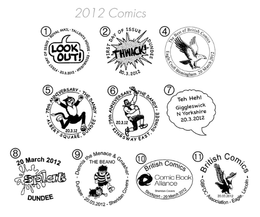 Comics Postmarks