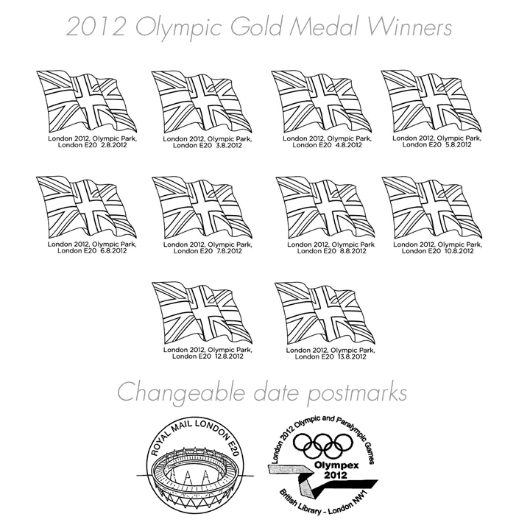 Cycling - Track - Women's Team Pursuit: Olympic Gold Medal 11: Miniature Sheet Postmarks