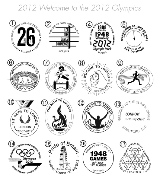 Welcome to the London 2012 Olympic Games: Miniature Sheet Postmarks