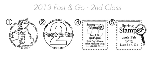 Post & Go Labels Postmarks