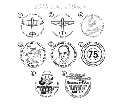 Battle of Britain: Miniature Sheet Postmarks