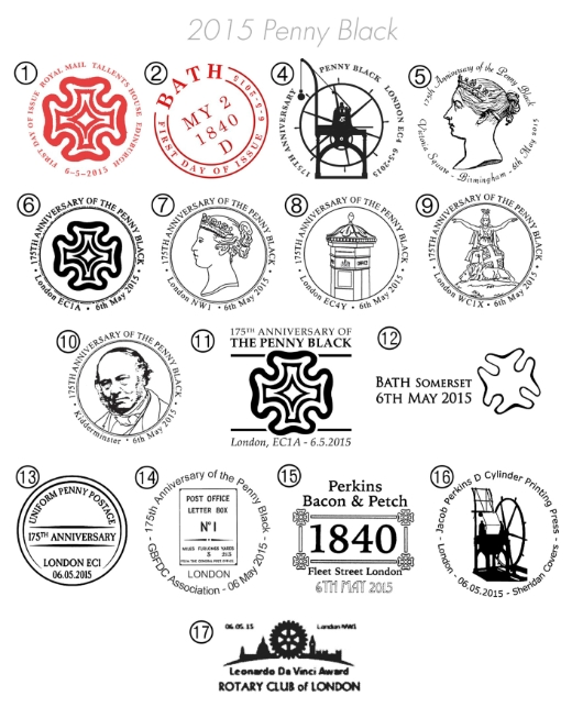 Penny Black: Miniature Sheet Postmarks