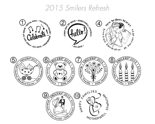 Smilers Refresh: Generic Sheet Postmarks