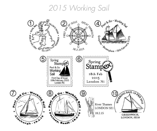 Working Sail Postmarks