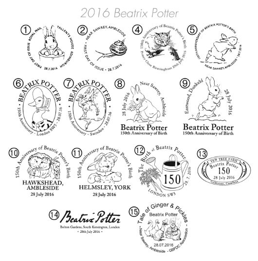Self Adhesive: Beatrix Potter Postmarks