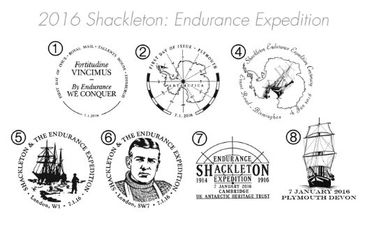 Shackleton and the Endurance Expedition Postmarks