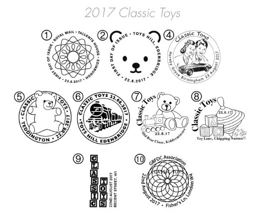 Classic Toys Postmarks
