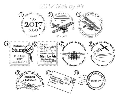 Postal Museum [Commemorative Sheet] Postmarks