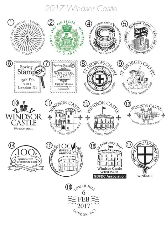 Self Adhesive: Windsor Castle Postmarks