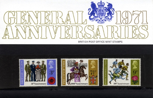 General Anniversaries 1971 Presentation Pack