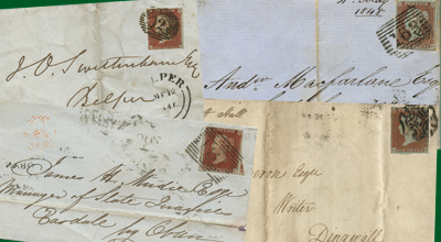Penny Reds on Cover - IMPERFORATE