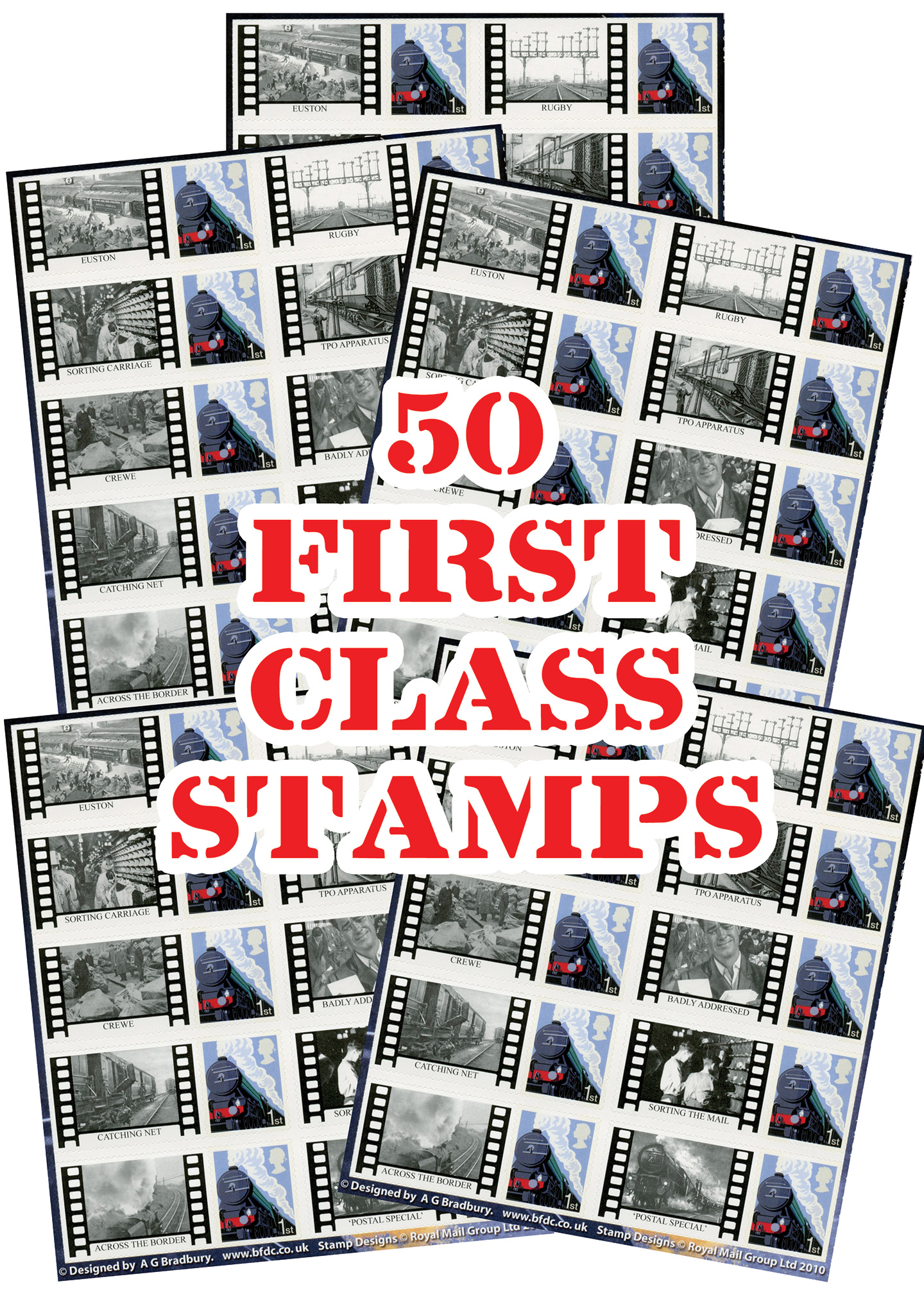 Night Mail Stamps - SAVE OVER £7.50