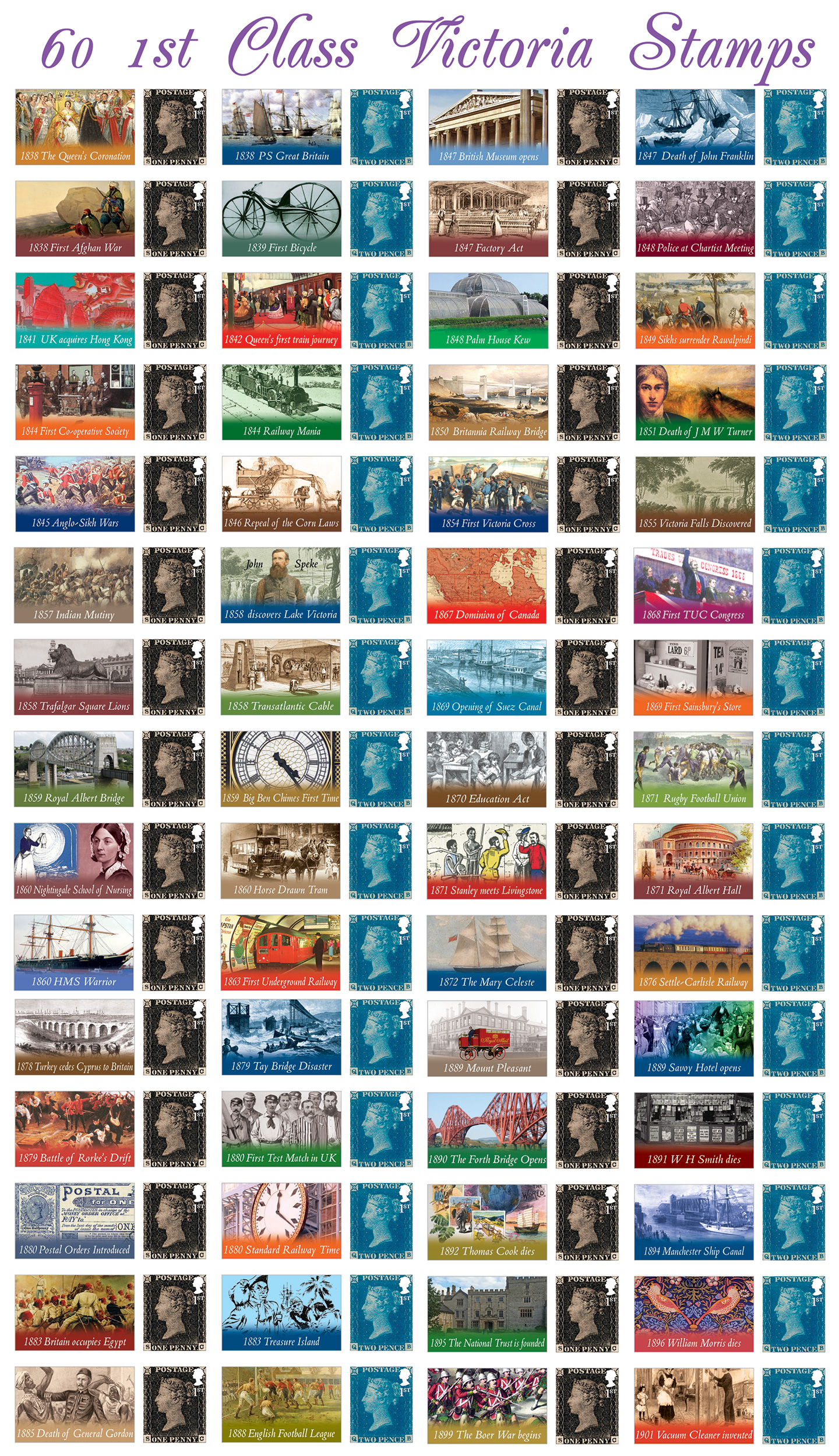 Queen Victoria Stamps - SAVE £9
