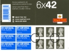 Self Adhesive: Airmail: 6 x 42p