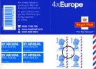 Self Adhesive: Airmail: 4 x Europe (40 grams)