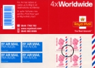 Self Adhesive: Airmail: 4 x Worldwide (40 grams)