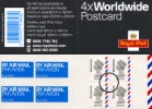 Self Adhesive: 4 x Worldwide Postcard