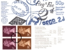 Vending: New Design: 50p Postal Hist 3 (Registered pmks)