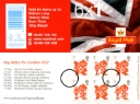 Self Adhesive: Olympic Emblems: Key Dates: 6 x 1st