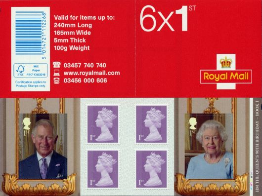 : H M The Queen's 90th Birthday Stamp Book