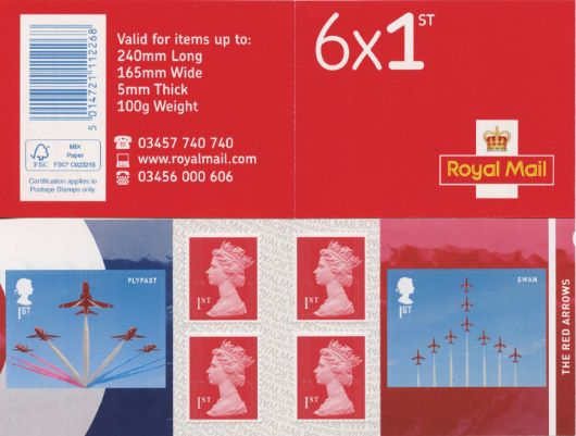 : RAF Centenary Stamp Book